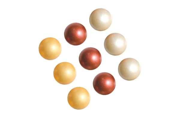 Mini bolas DORADO, RUBI y PLATA
