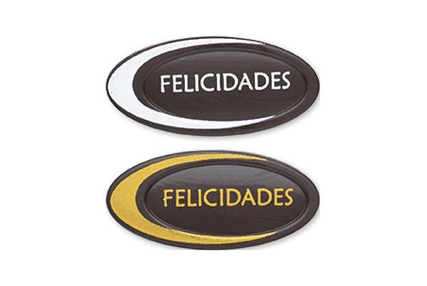 FELICIDADES CHN Dorado-Blanco