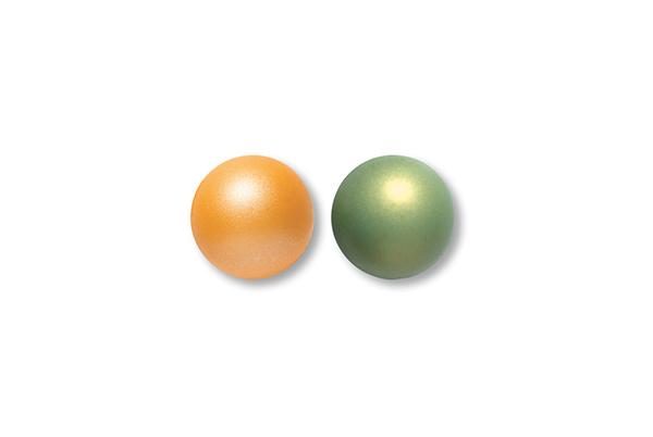 Bolas PERLAS Naranja-Verde